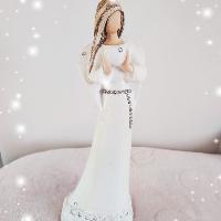 Anděl 17,5 cm - stříbřenka