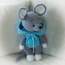 Háčkovaná myška Oliver 40cm