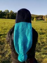 Pletená mega dlouhá čepice