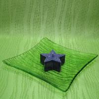 Svíčka z palmového vosku vonná - hvězdička fialová