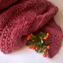 Bobulky - pletený šátek