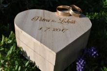 Svatební krabička srdce