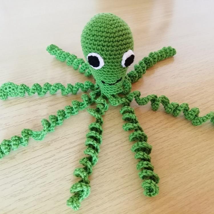 Háčkovaná chobotnička zelená