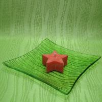 Svíčka z palmového vosku vonná - hvězdička oranžová