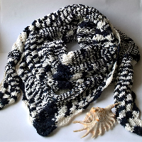 Black & white - šátek bambus s bavlnou