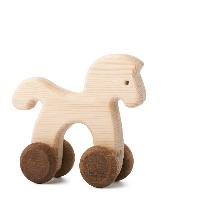 Dřevěná hračka na kolečkách - Koníček Janíček