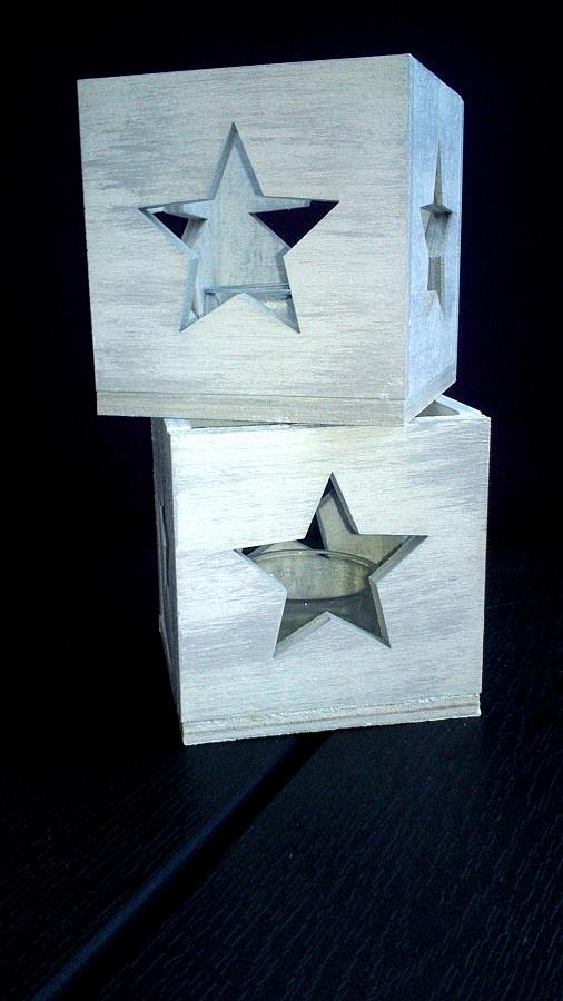Dřevěný svícen Hvězdička