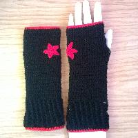 Háčkované návleky na ruce dětské