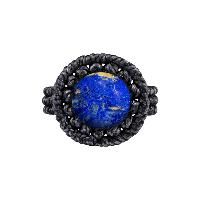 Ručně drhaný prsten s lapis lazuli
