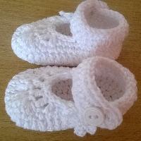 Háčkované balerínky bavlna