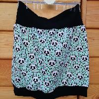 Šitá sukně pandy a šípy mentol skladem