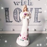 Anděl 17,5 cm - s potiskem Love růží
