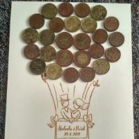 Svatební strom na peníze.