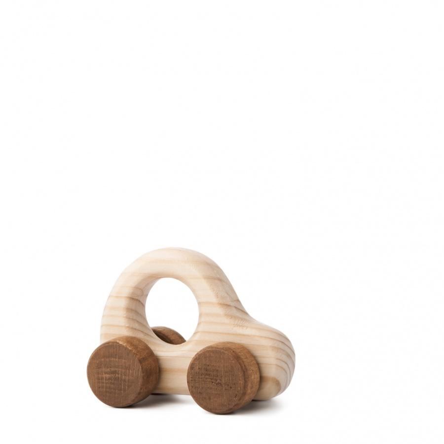 Dřevěná hračka na kolečkách - Autíčko Adámek