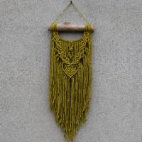Macramé dekorace - zlaté kiwi