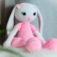 Háčkovaná králičí slečna Baletka 30 cm
