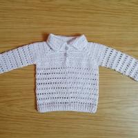 Háčkovaný dírkovaný svetřík bavlna