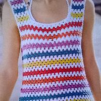 Háčkované dámské šaty bavlna