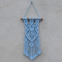 Macramé dekorace ve sv. modré