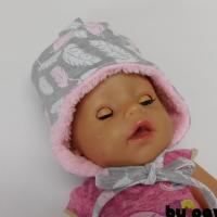 Dívčí zimní kojenecká čepka - Peříčka
