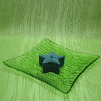 Svíčka z palmového vosku vonná - hvězdička zelená