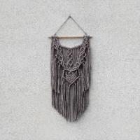Macramé dekorace - mokka