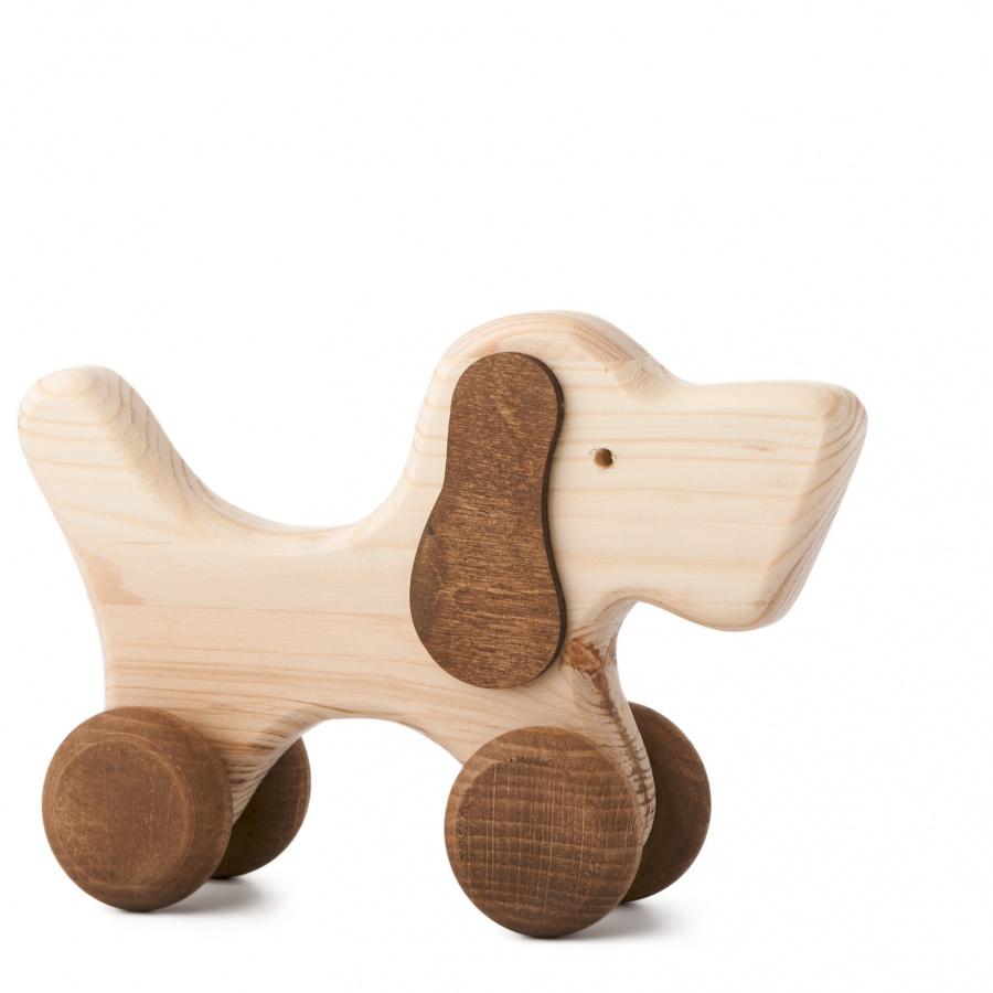 Dřevěná hračka na kolečkách - Hafan Rafan