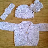 Háčkovaný kompletek bavlna
