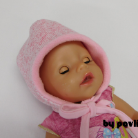 Dívčí zimní kojenecká čepka - Sv. růžová