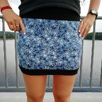 Šitá sukně hvězdice na modré skladem