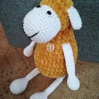 Háčkovaná velikonoční ovečka