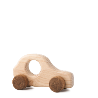 Dřevěná hračka na kolečkách - Autíčko Štěpánek