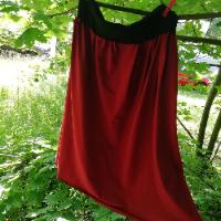 Šitá sukně - vínová