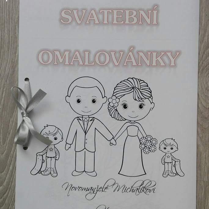 Svatební omalovánky - přiobjednání