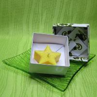 Dárková krabička (svíčka) - hvězdička žlutá