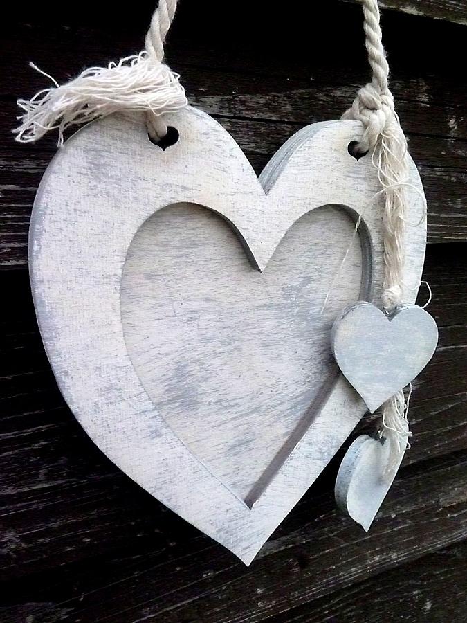 Závěsný fotorámeček srdce