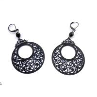 Náušnice černé ornamenty