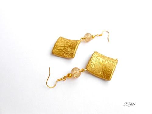Náušnice barvy zlaté