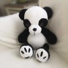 Háčkované zvířátko Panda 40cm