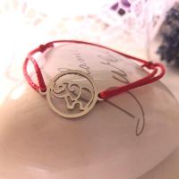 Kabbalah ochranný náramek s ocelovým slonem