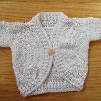 Háčkované bolerko bavlna krátký rukáv