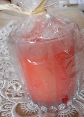 svíčka - bergamot, mango - stříbrný pásek
