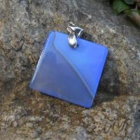 achátový čtverec modrý
