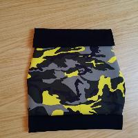 Šitá sukně úplet maskáč žlutá