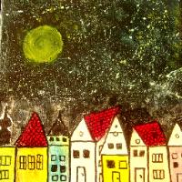 Noční město.