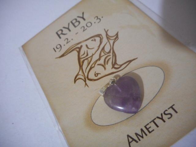 Ryby - ametyst - srdce