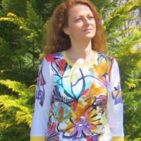 Šaty/Tunika plná barev