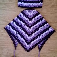 Háčkovaný komplet šátek + čepička