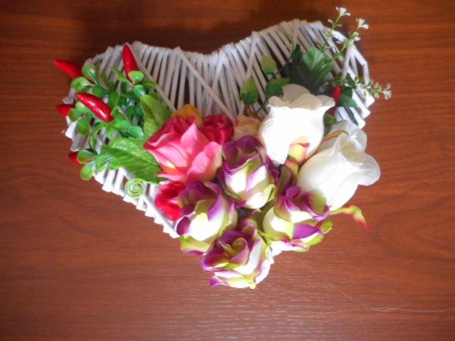letní srdíčko s růžemi