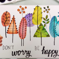 Don't worry, be happy - akvarel